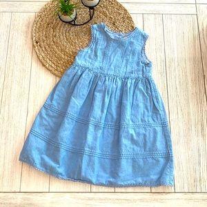 Copper Key girls denim dress size 6 EUC